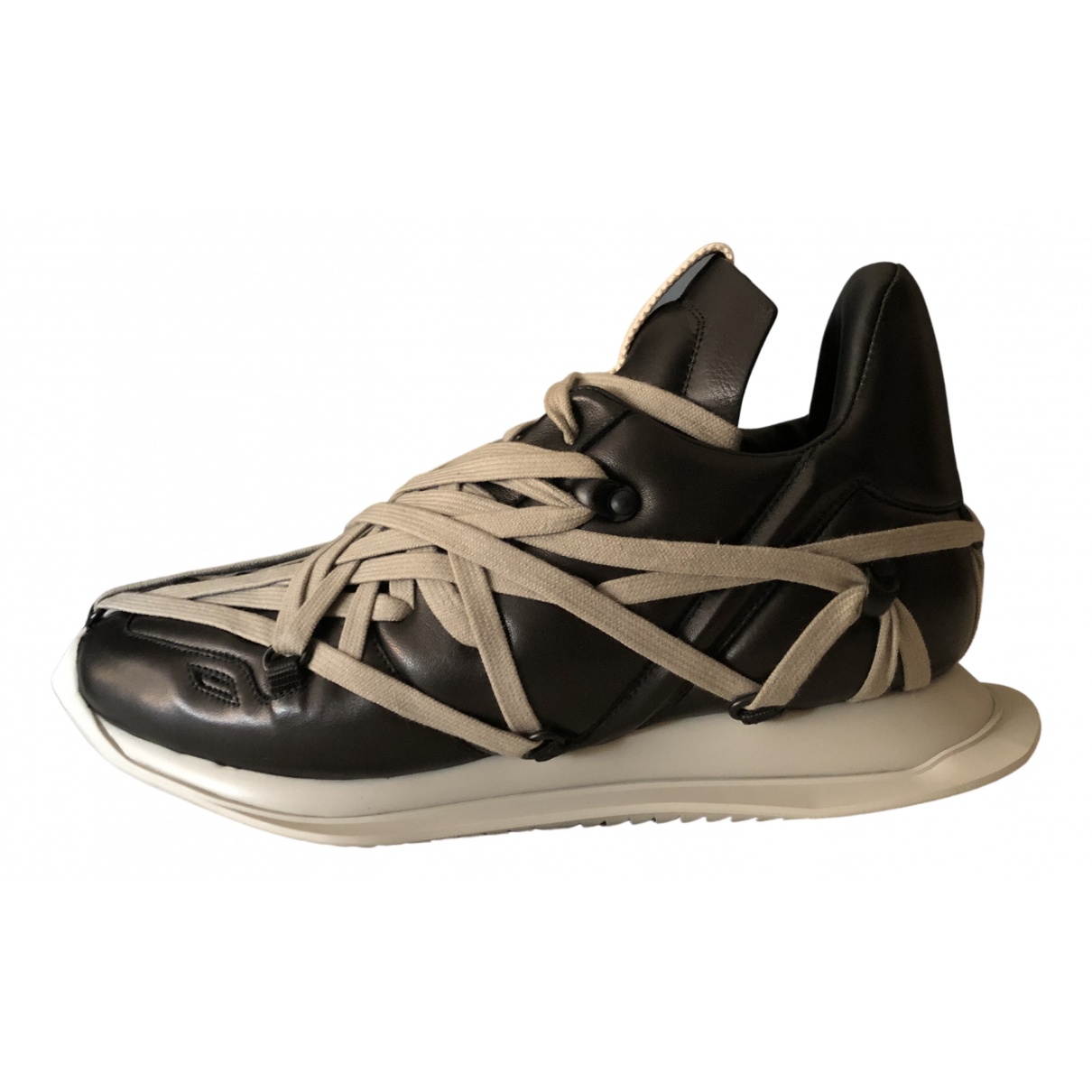 Rick Owens \N Black Leather Trainers for Men 41 EU