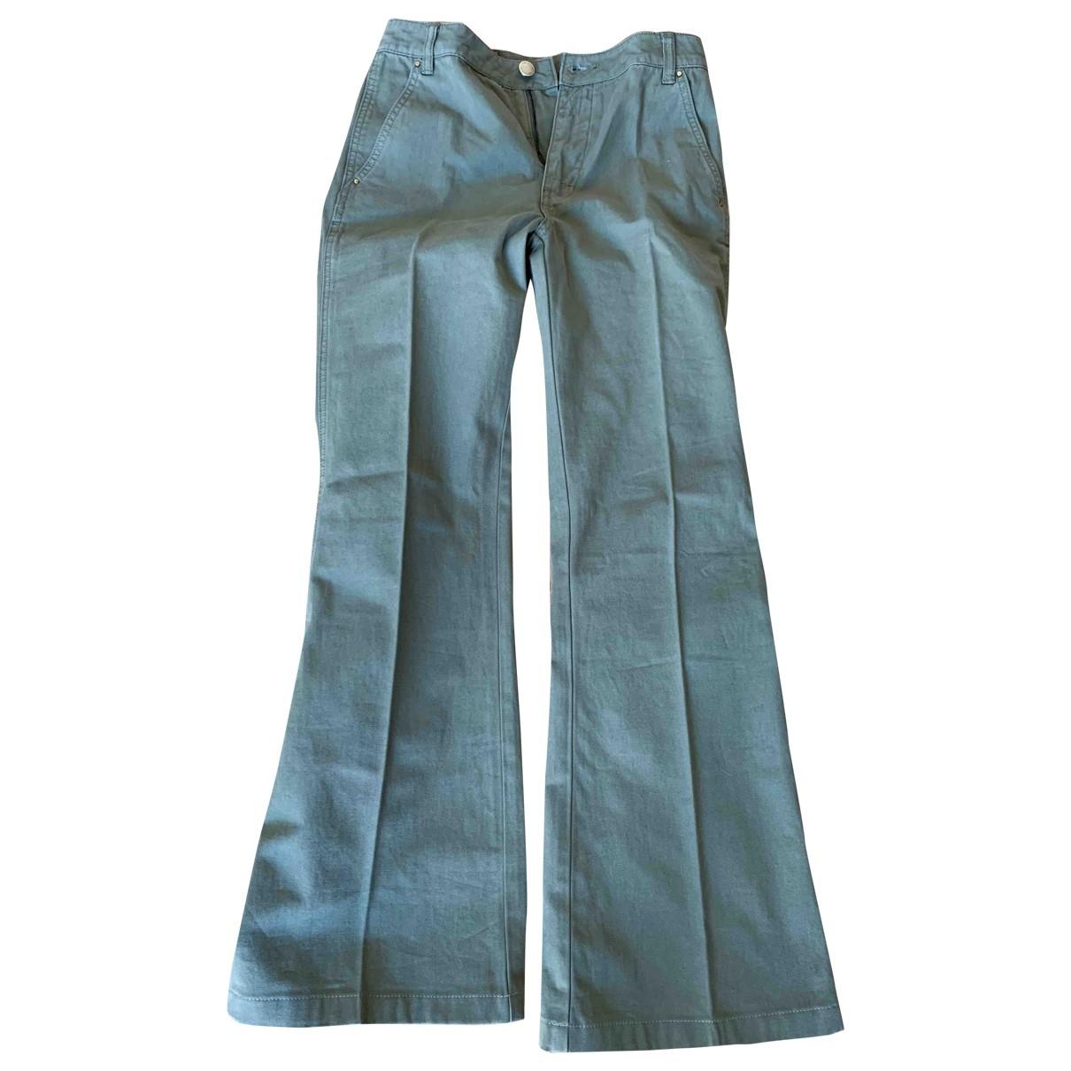 Tory Burch \N Khaki Cotton Trousers for Women 8 UK