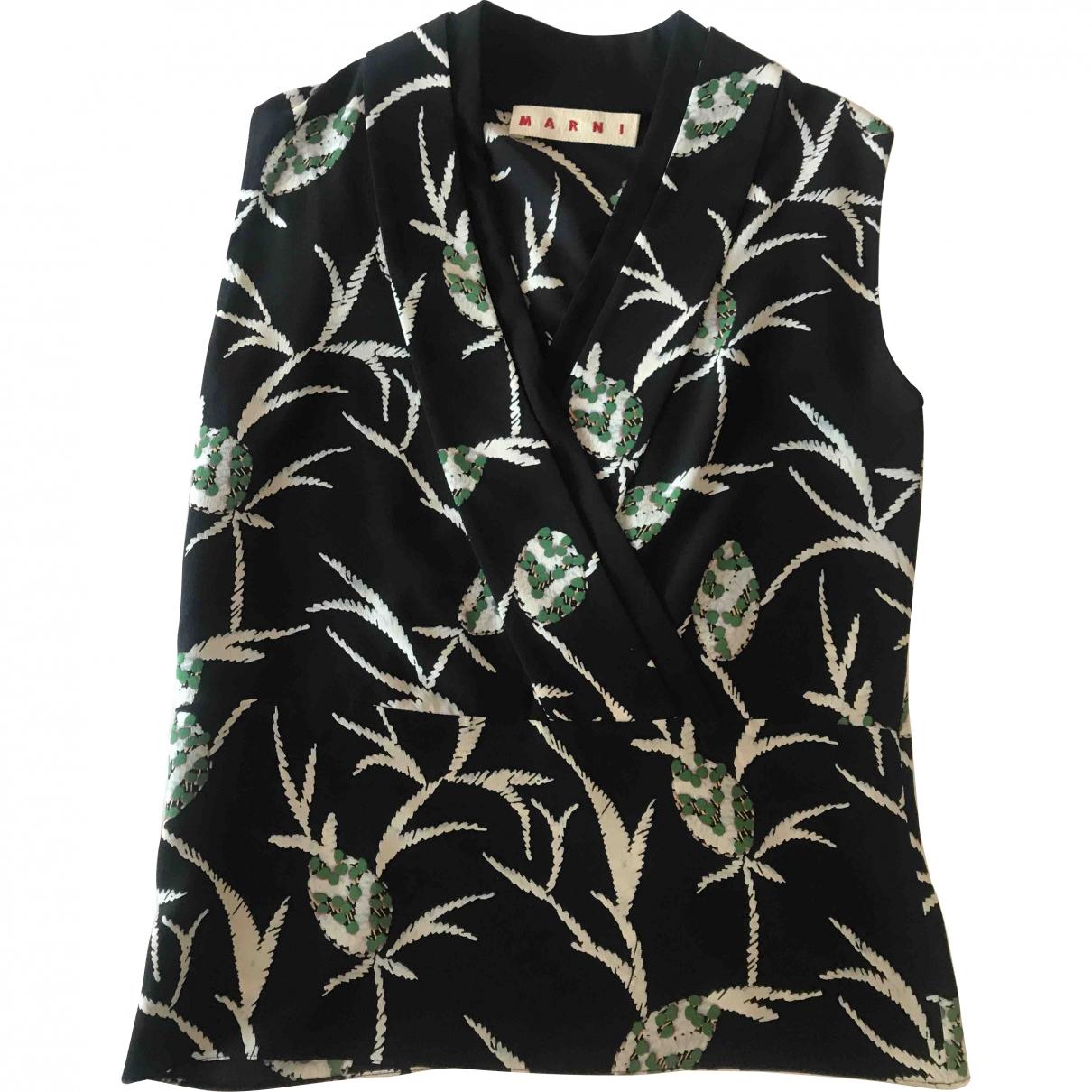 Marni \N Black Silk  top for Women 38 IT