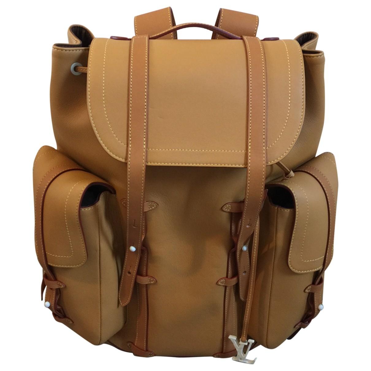 Louis Vuitton - Sac Christopher Backpack pour homme en cuir - beige