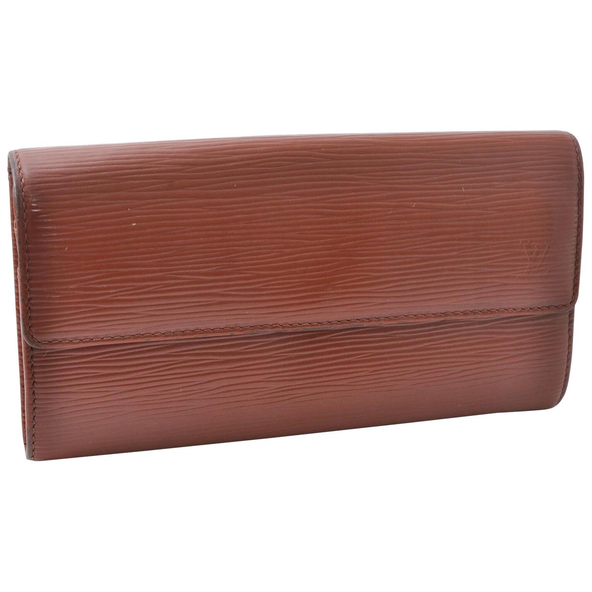 Louis Vuitton - Portefeuille Sarah pour femme en cuir - marron