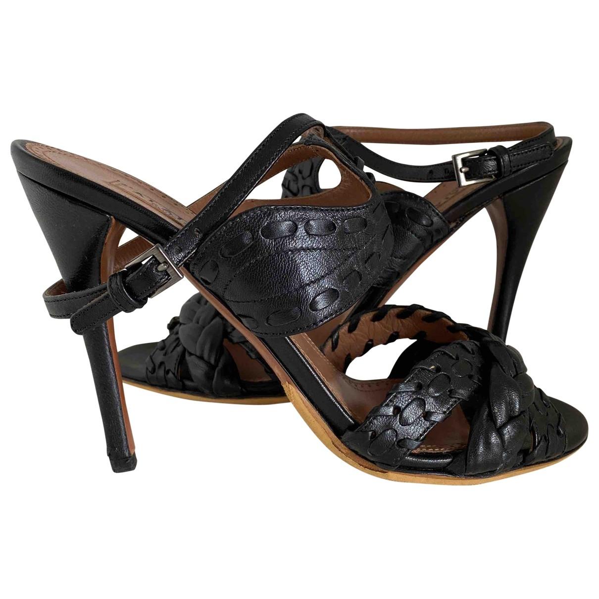 Alaia - Sandales   pour femme en cuir - noir