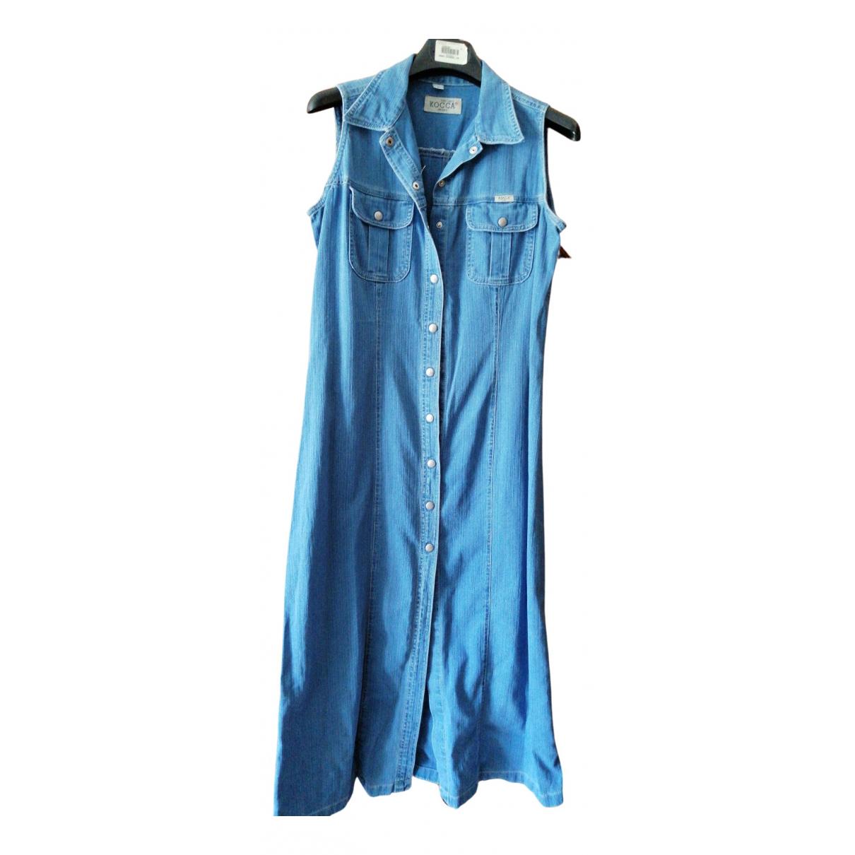 Non Signe / Unsigned Hippie Chic Kleid in  Blau Denim - Jeans