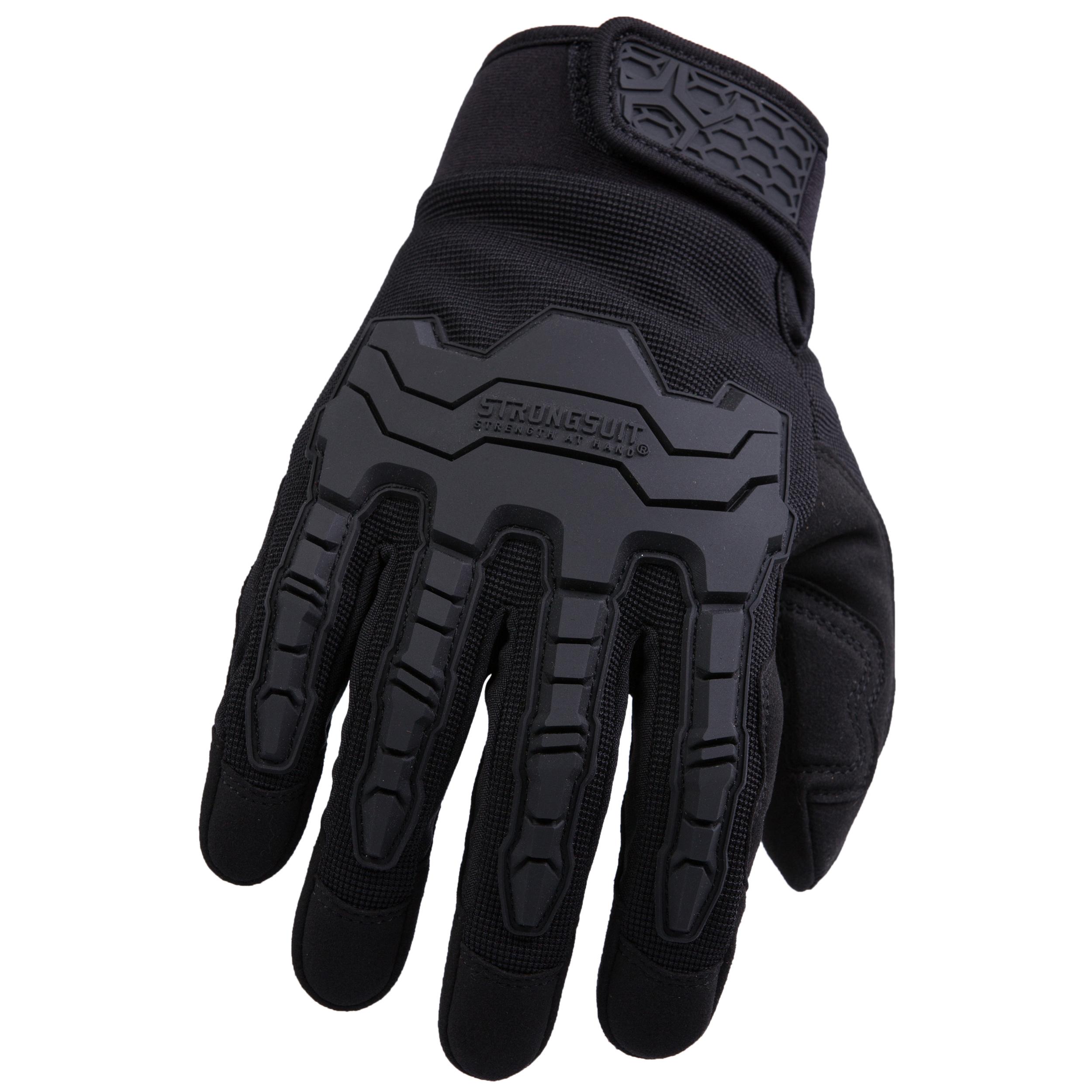 Brawny Plus Gloves, Black, Small