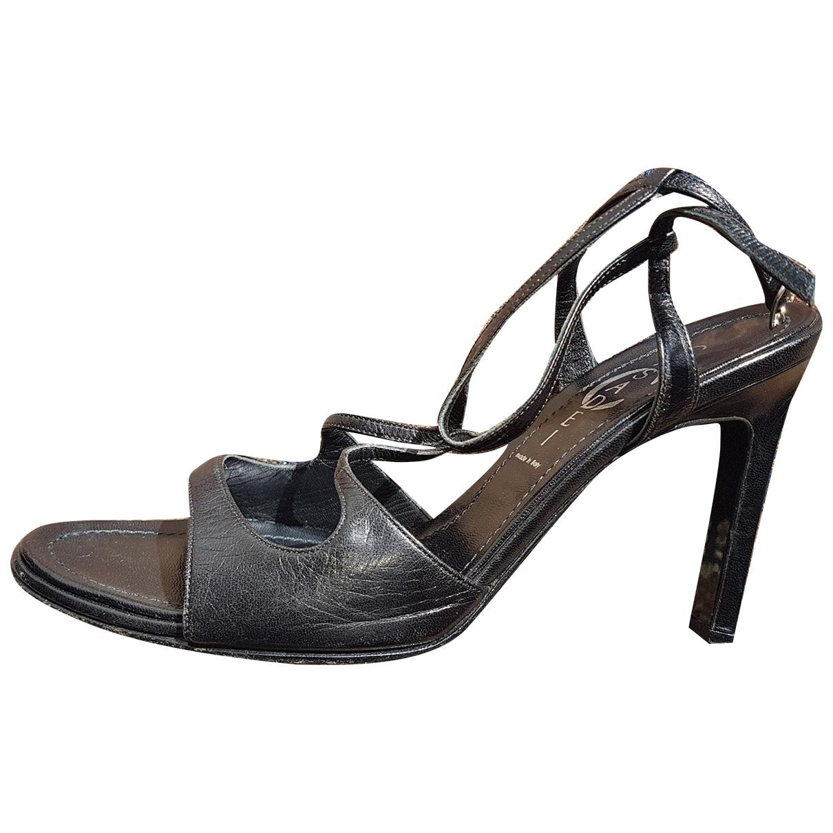 Casadei - Sandales   pour femme en cuir - noir