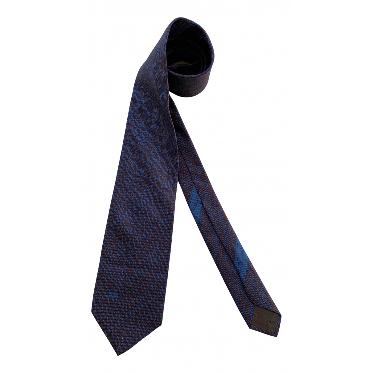Valentino Garavani N Blue Silk Ties for Men N