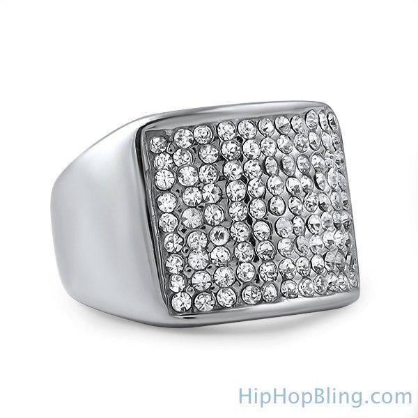 Classic Stainless Steel Bling Bling Ring