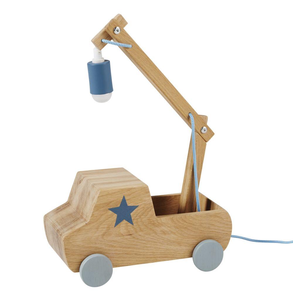 Lampe in Lastwagenform aus Kiefernholz