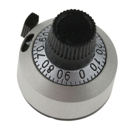 Vishay Rotary Switch Dial, Dial, for use with Precision Potentiometers or Other Rotating Devices Up to 15 Turns