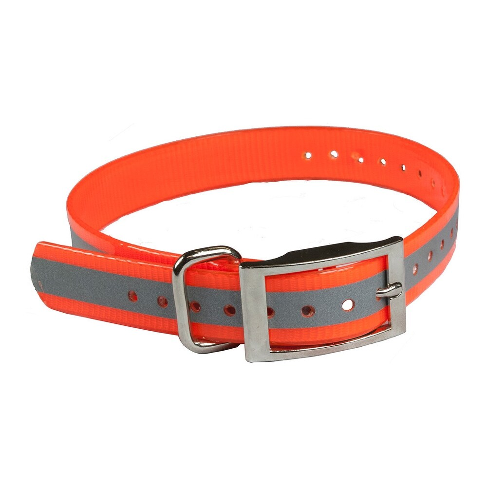 The buzzard's roost collar-r-o orange the buzzard's roost reflective collar strap 1 orange 1 x 24