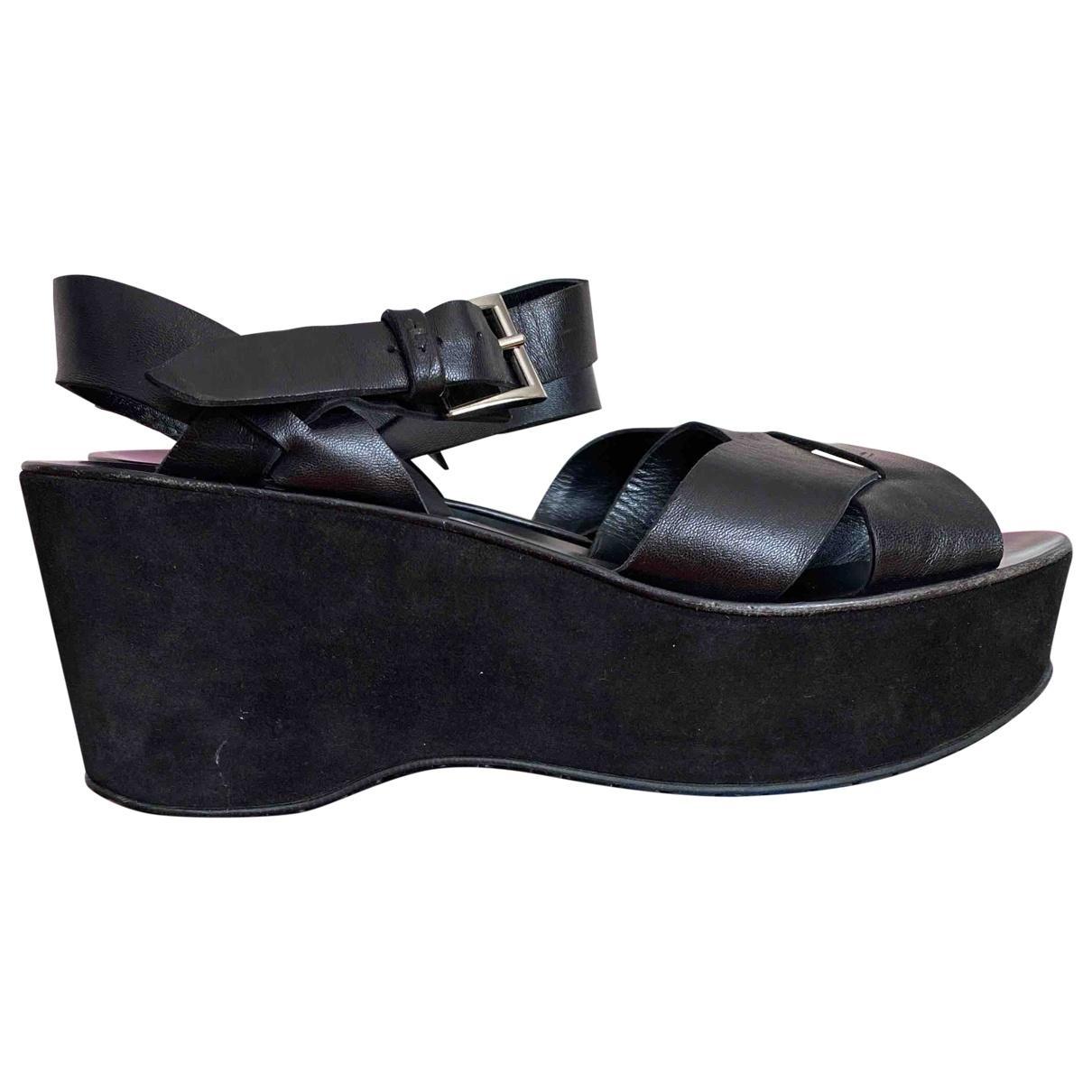 Cesare Paciotti \N Black Suede Sandals for Women 40 EU