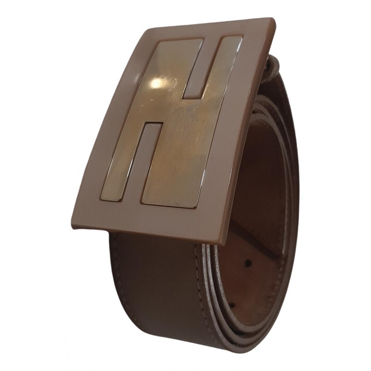 Fendi N Beige Leather belt for Women 90 cm