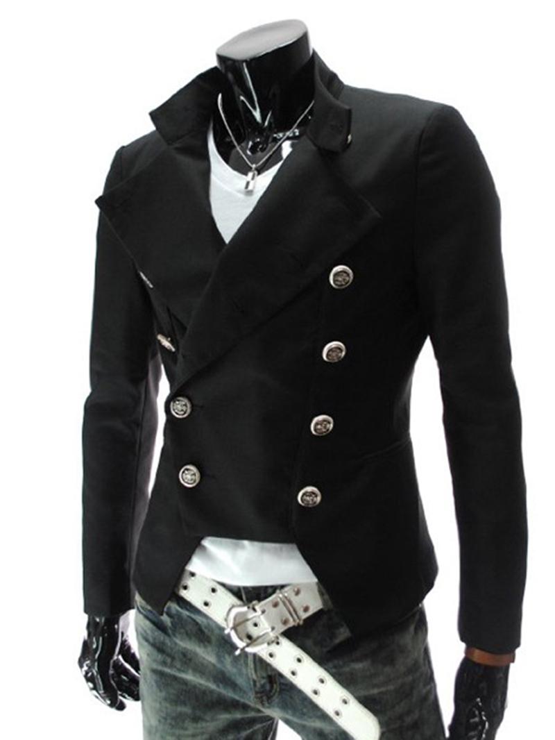 Ericdress Double-Breasted Slim Men's Coat