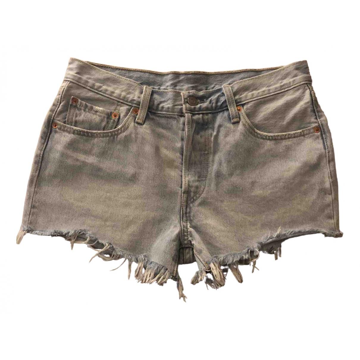 Levi's 501 Blue Denim - Jeans Shorts for Women 28 US