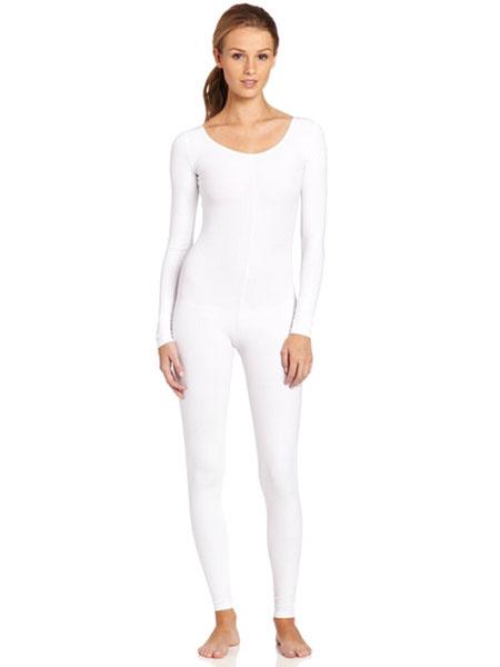 Milanoo White Morph Suit Adults Bodysuit Lycra Spandex Catsuit for Women