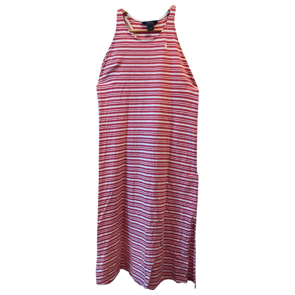 Polo Ralph Lauren \N Kleid in  Bordeauxrot Baumwolle