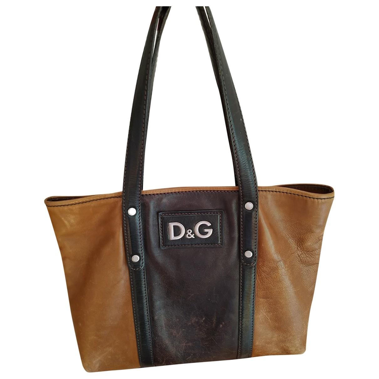 D&g \N Brown Leather handbag for Women \N