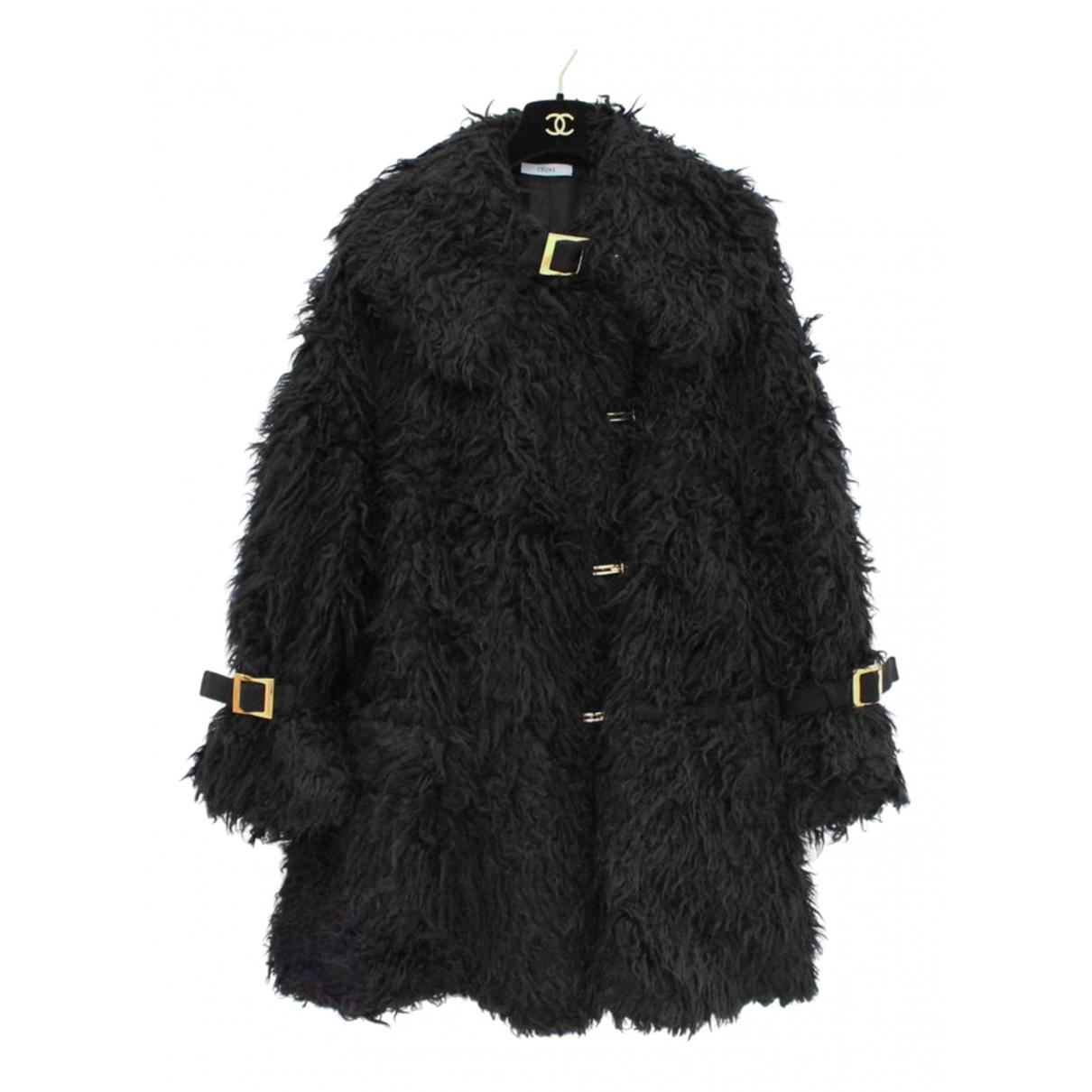 Celine N Black Wool coat for Women 38 FR