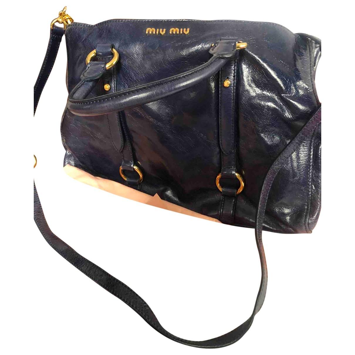 Miu Miu - Sac a main Bow bag pour femme en cuir - bleu