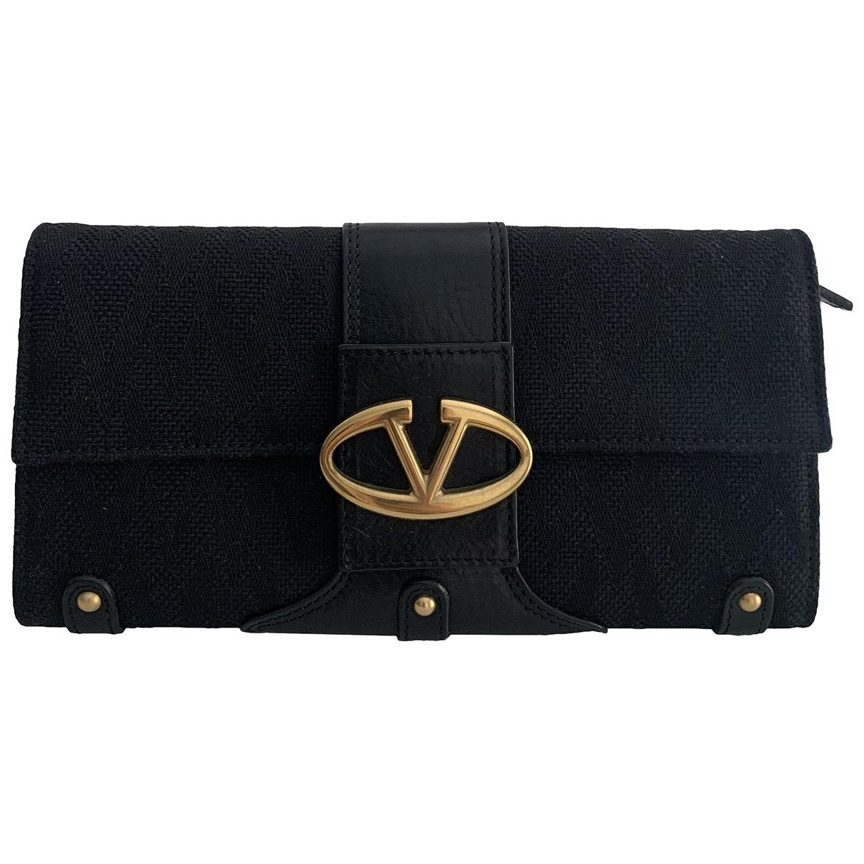 Valentino Garavani \N Black Cloth wallet for Women \N