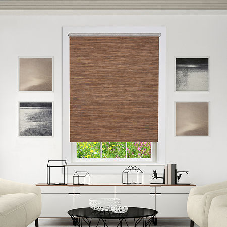 Jute Cordless Light-Filtering Roller Shade, One Size , Brown