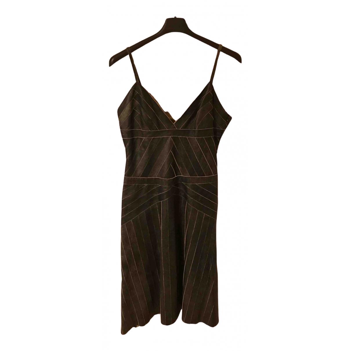 Prada - Robe   pour femme en cuir - marron