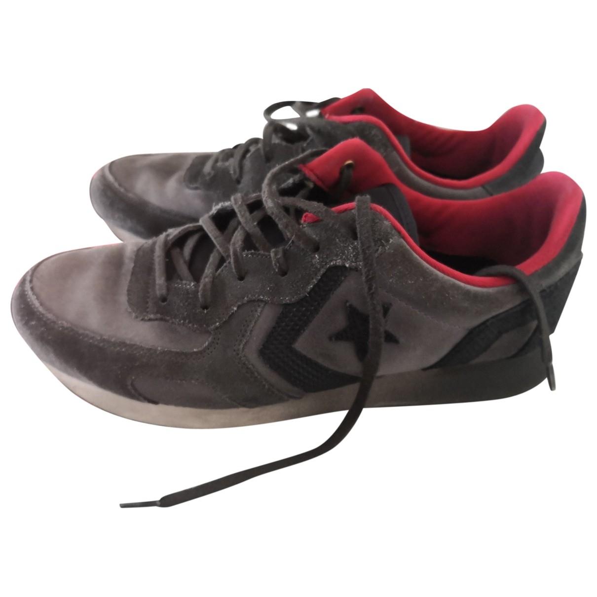Converse - Baskets   pour homme en cuir - gris