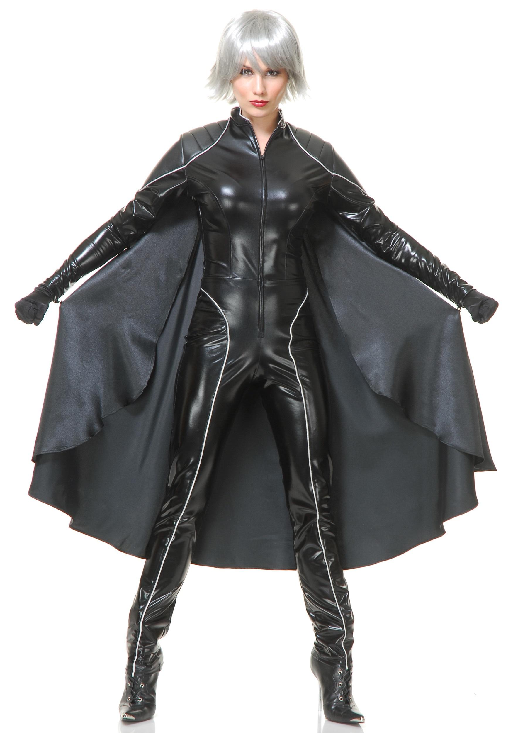 Women's Thunder Superhero Costume | Black Jumpsuit Women W/ Cape