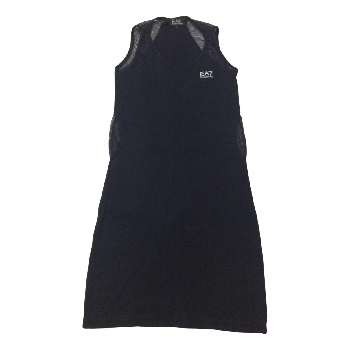 Emporio Armani \N Kleid in  Blau Baumwolle
