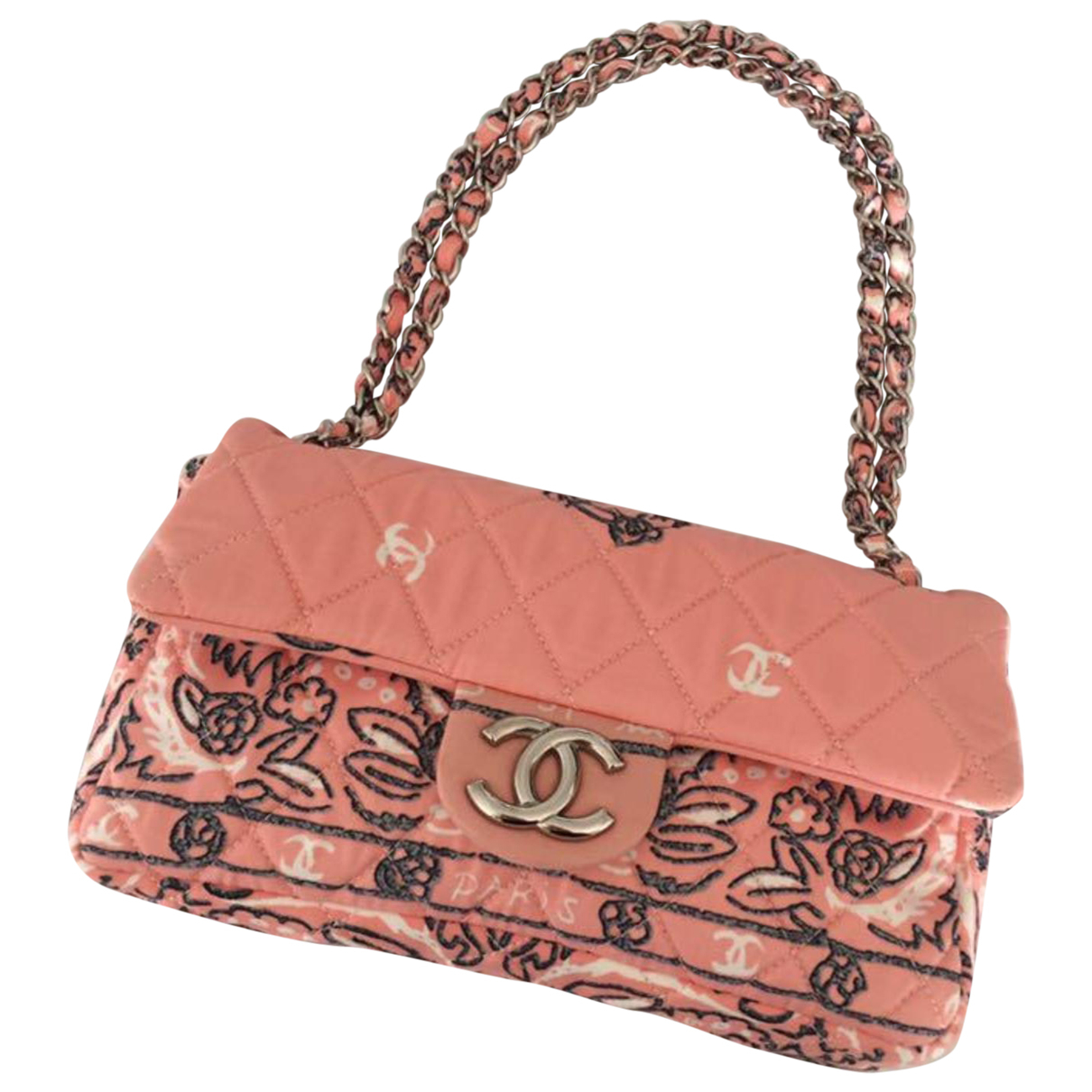 Chanel Timeless/Classique Pink Cloth handbag for Women \N