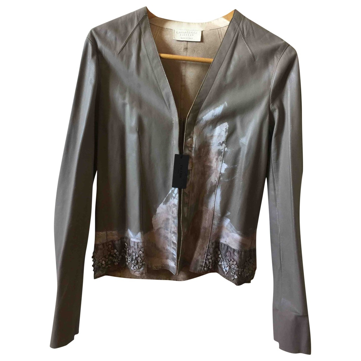 Non Signé / Unsigned \N Leather jacket for Women 40 IT