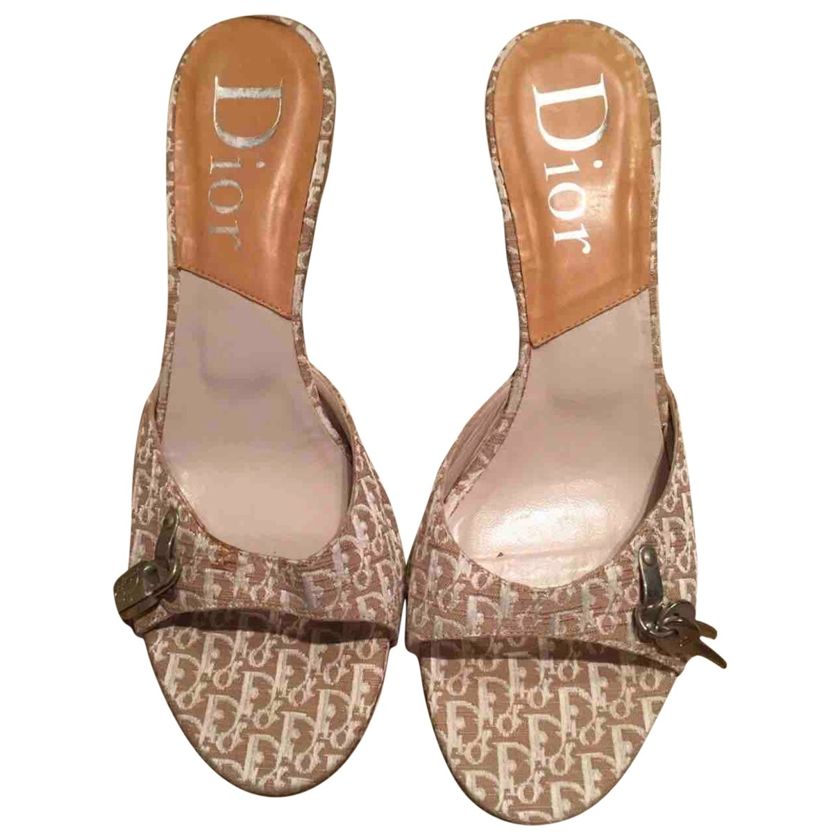 Dior \N Beige Cloth Sandals for Women 40 EU