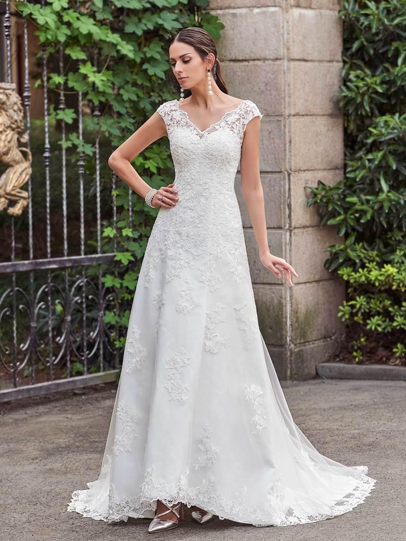 Ericdress Cap Sleeve Beading Lace Garden Wedding Dress