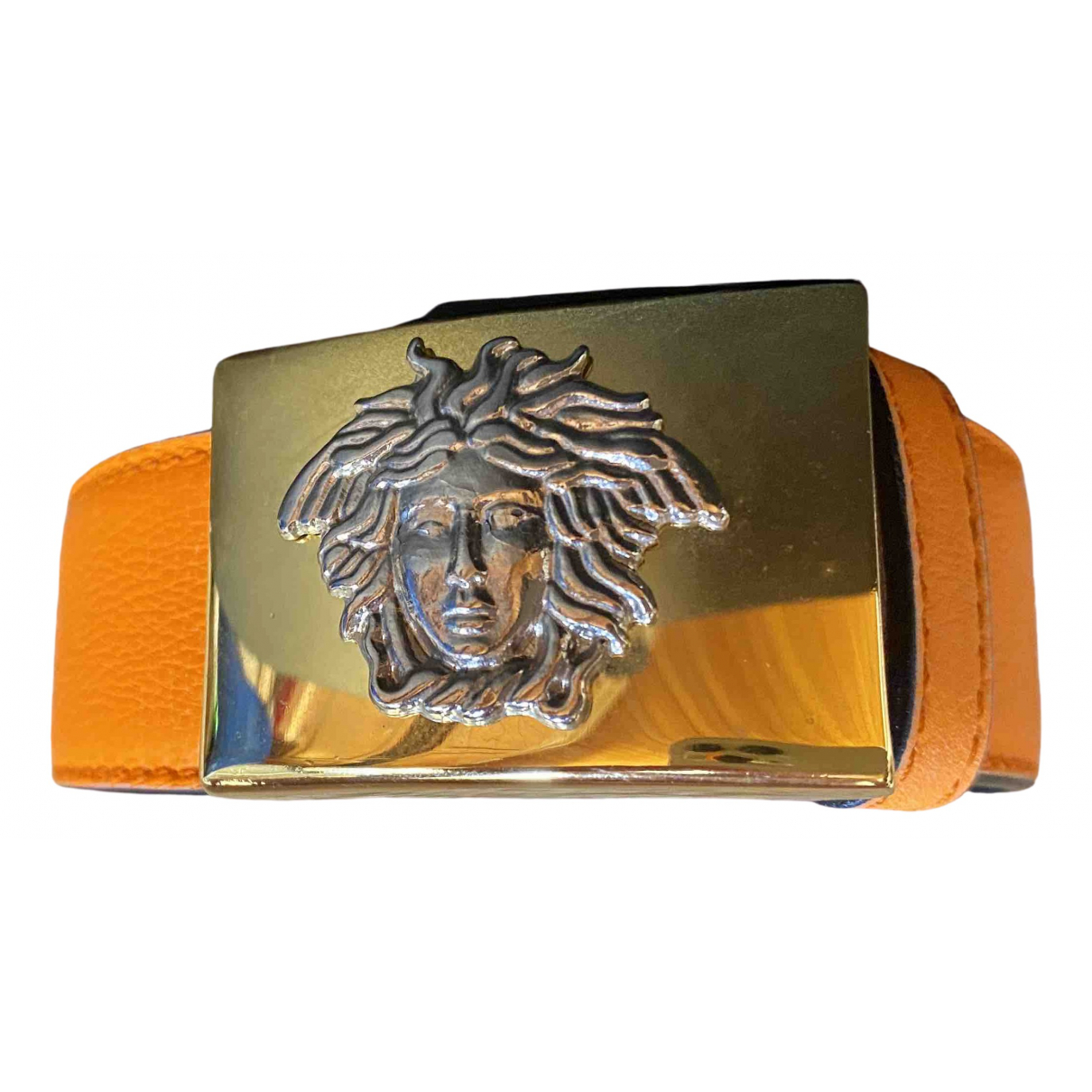 Gianni Versace \N Guertel in  Orange Leder