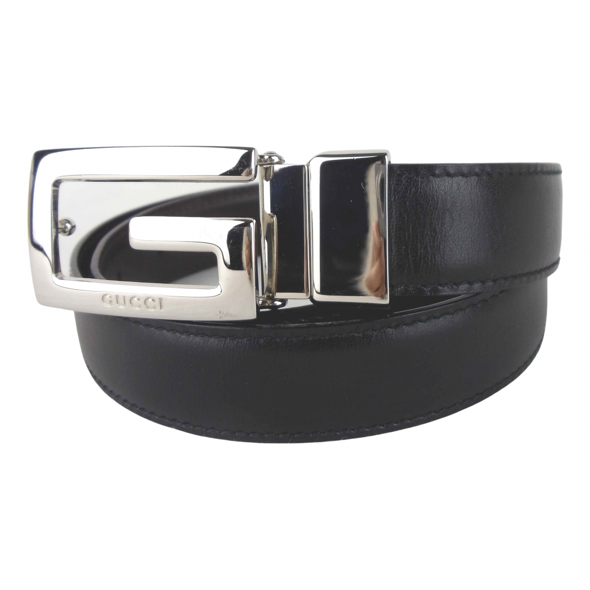 Gucci \N Black Leather belt for Women 70 cm
