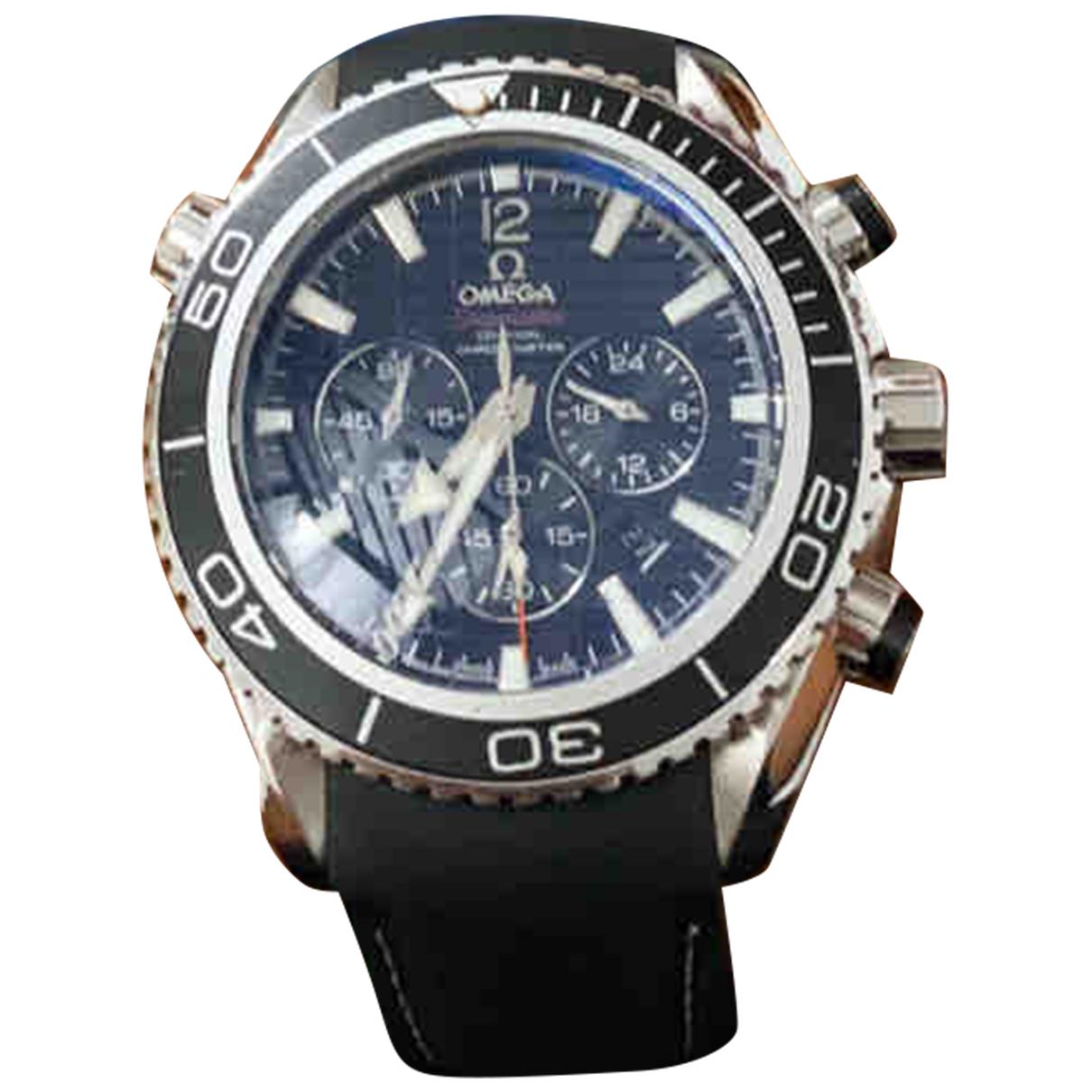 Omega - Montre Seamaster Planet Ocean pour homme en acier - gris