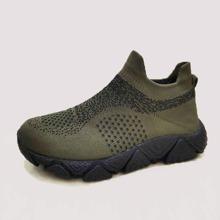 Zapatillas deportivas sin cordones anchas de hombres