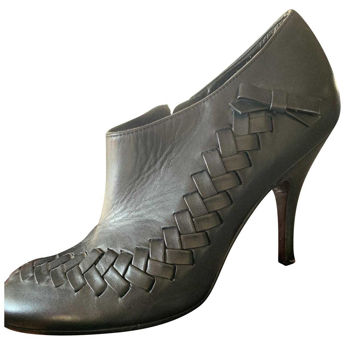 Salvatore Ferragamo - Boots   pour femme en cuir - noir