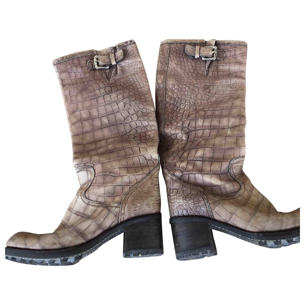 Free Lance - Bottes Geronimo pour femme en cuir