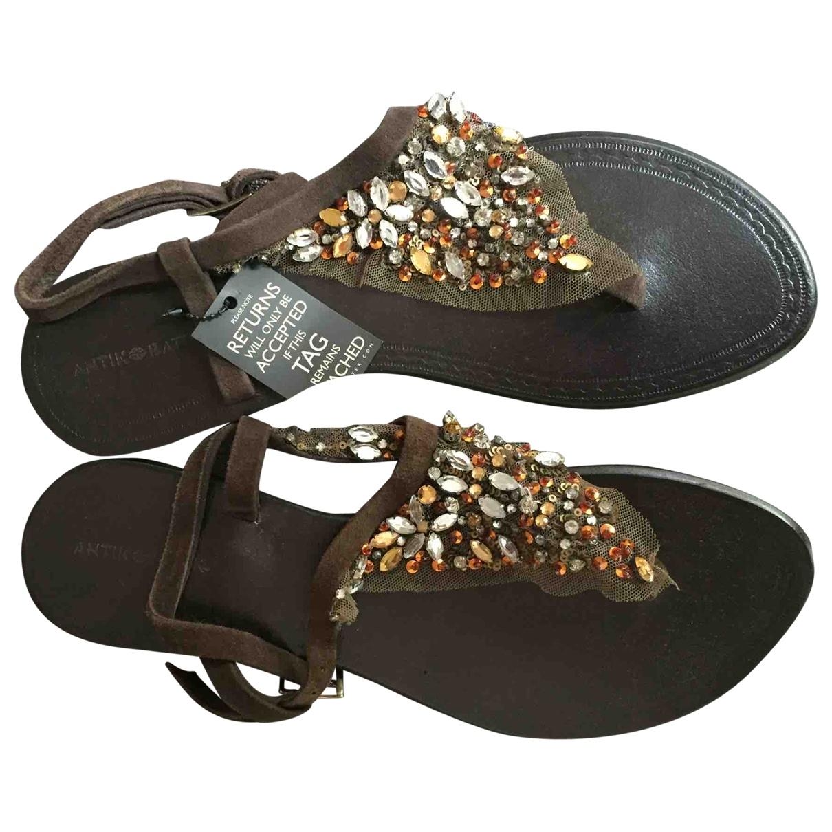 Antik Batik \N Brown Suede Sandals for Women 38 EU