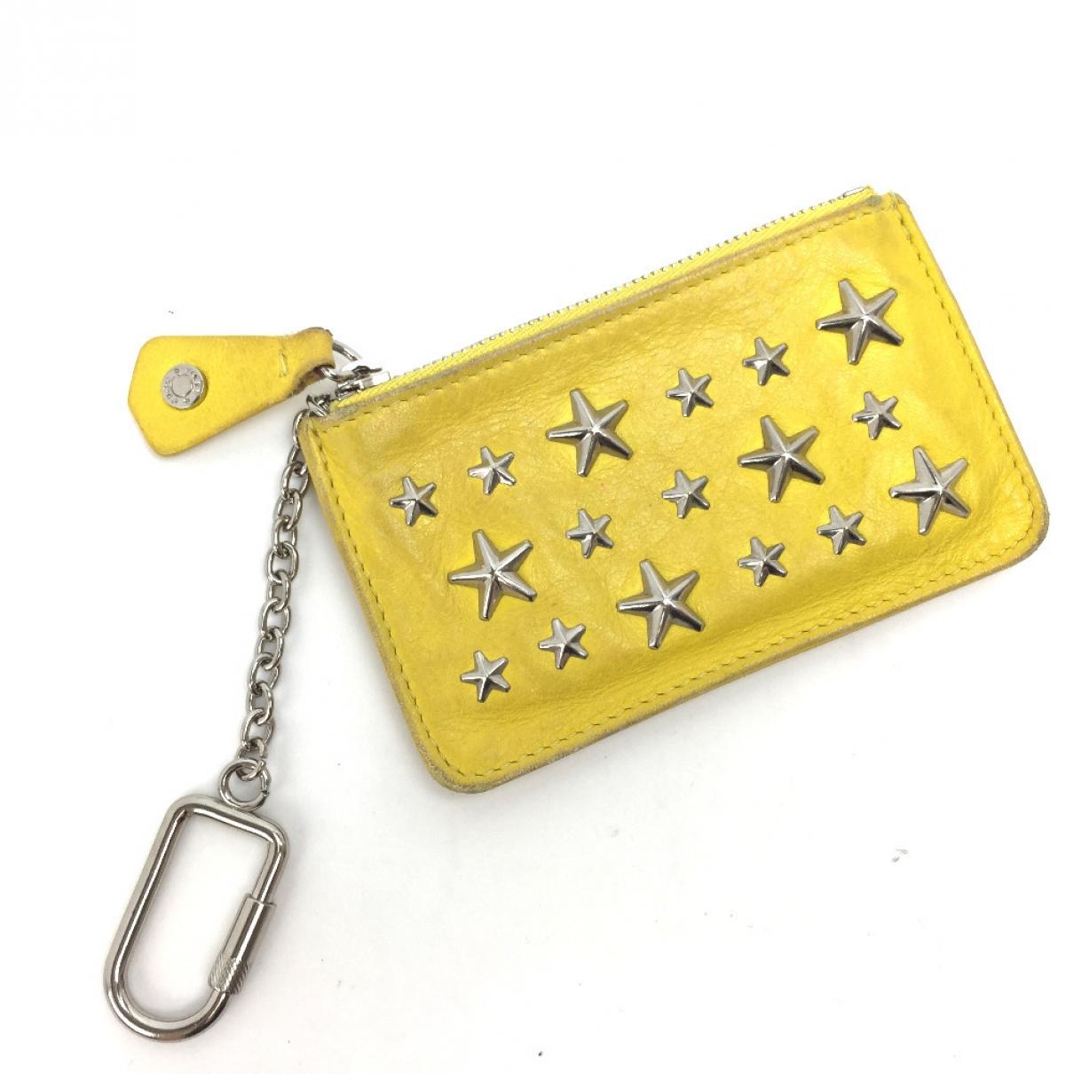 Jimmy Choo \N Kleinlederwaren in  Gelb Leder