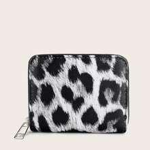 Leopard Zip Around Purse