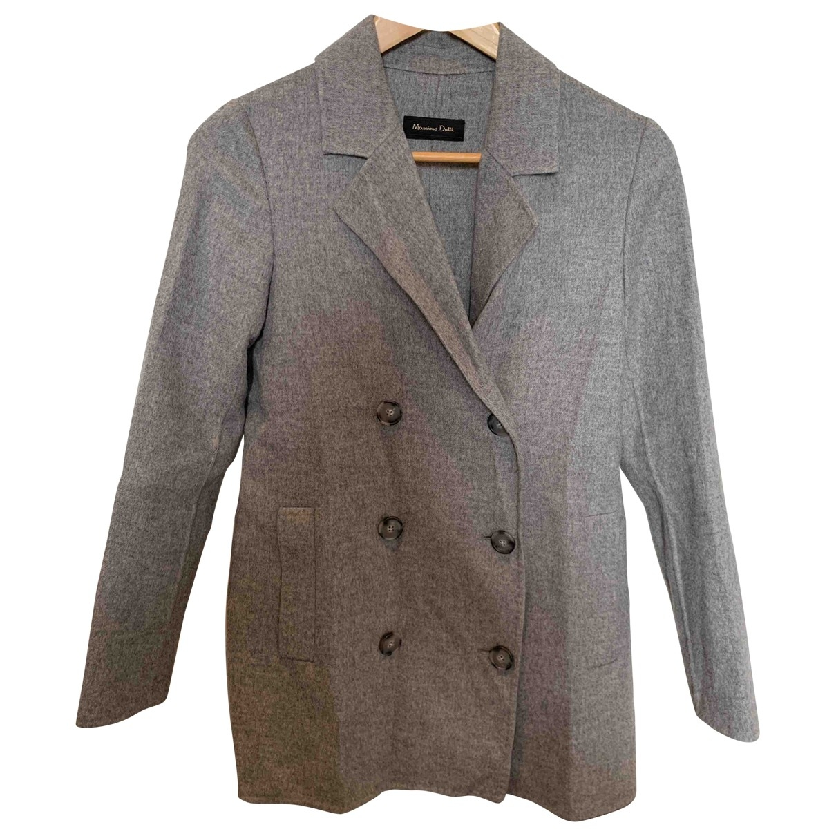 Massimo Dutti \N Grey Wool coat for Women 36 FR