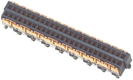 ERNI MicroSpeed, 1mm Pitch, 50 Way, 2 Row, Straight PCB Header, Surface Mount