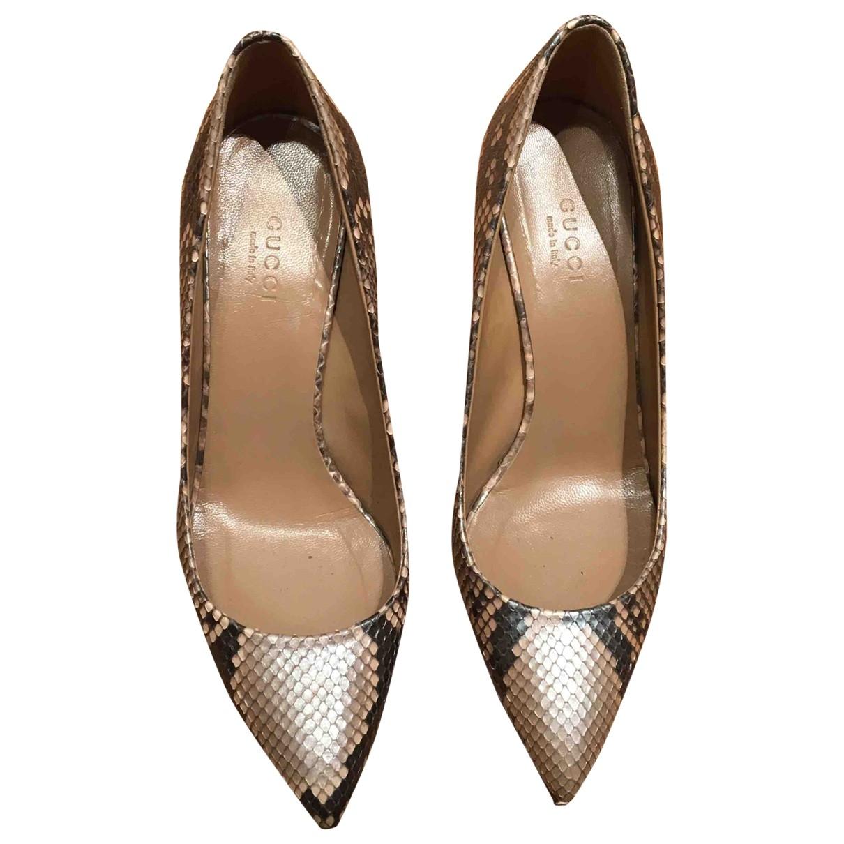 Gucci \N Beige Python Heels for Women 36.5 EU