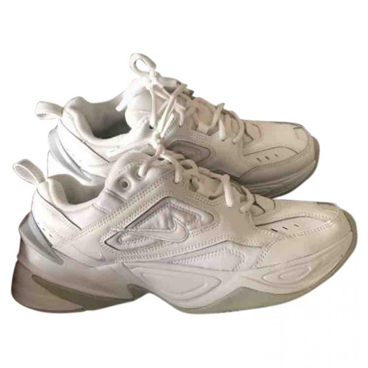 Nike M2K Tekno White Leather Trainers for Men 41 EU