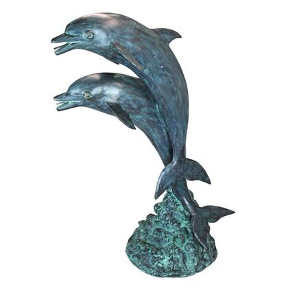 PK739 Twin Dolphins In Tandem Bronze