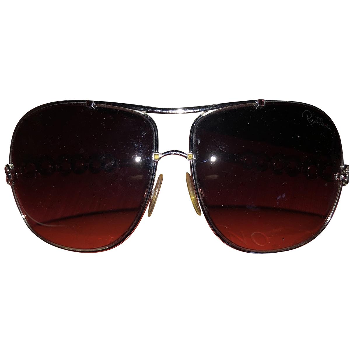 Roberto Cavalli \N Sonnenbrillen in  Silber Metall