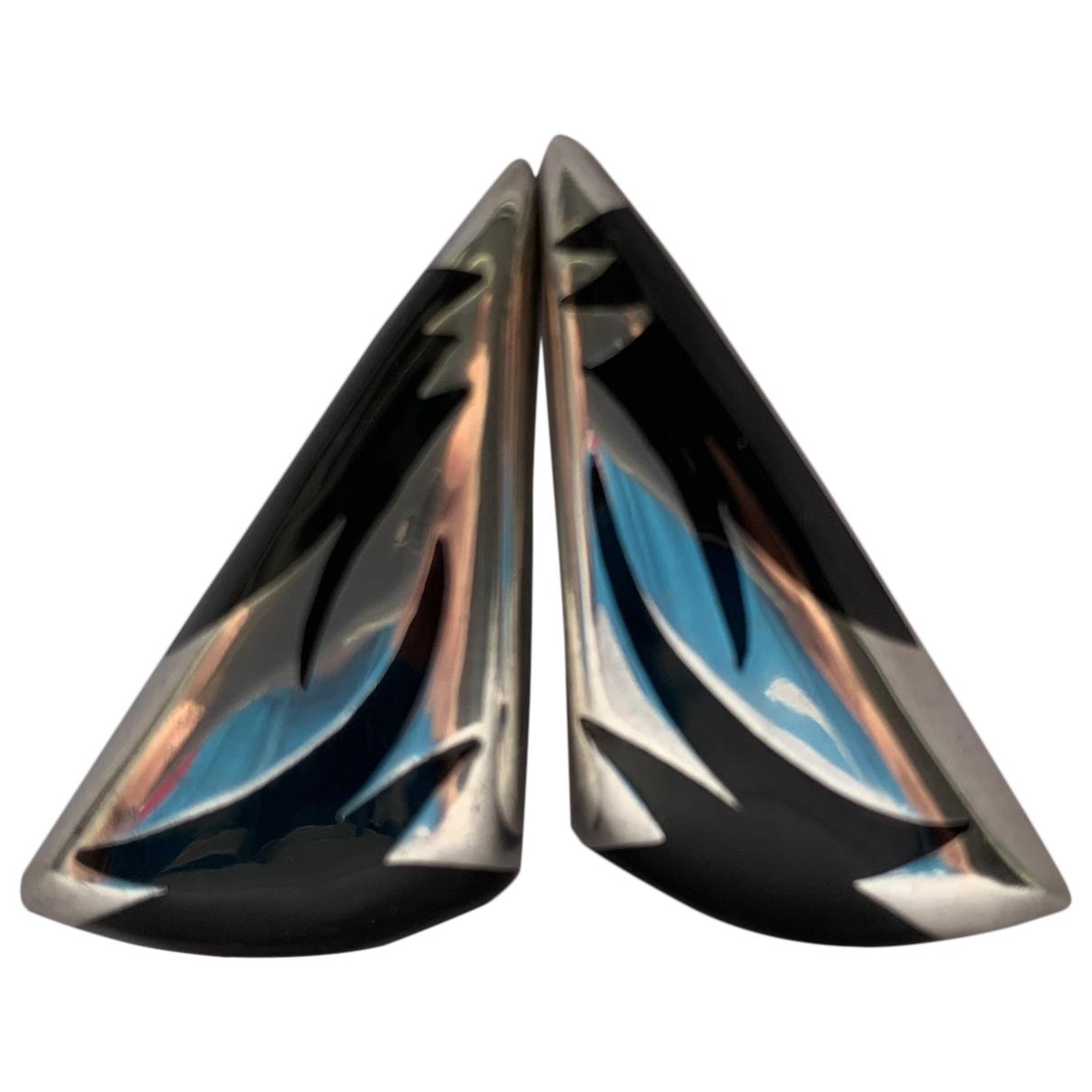 - Boucles doreilles Onyx pour femme en argent - multicolore