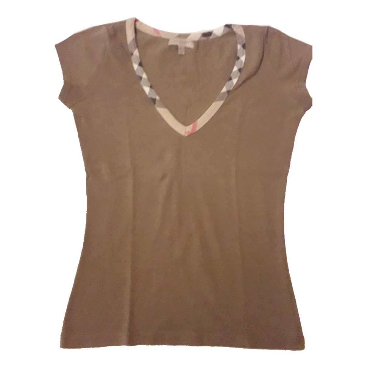Burberry - Top   pour femme en coton - kaki